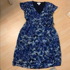 Beautiful wrap flower print dress